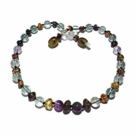 Child Sirona Green Baltic Amber Fluorite Necklace Love Amber X