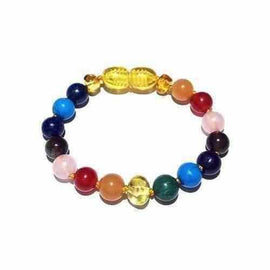 Child Skittles Gemstones and Honey Baltic Amber Anklet Bracelet Jewellery / Body Jewellery / Anklets Love Amber X