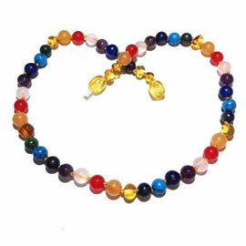 Child Skittles Honey Baltic Amber Gemstones Necklace Jewellery / Necklaces / Beaded Necklaces Love Amber X