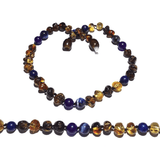 Child Twilight Green Baltic Amber Lapis Lazuli Sodalite Amethyst Necklace Jewellery / Necklaces / Beaded Necklaces Love Amber X