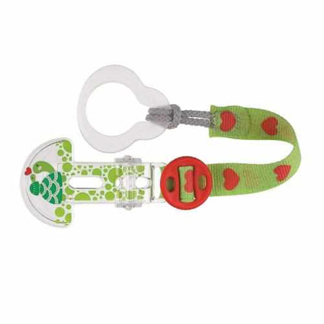 Mam Clip it and Teat Cover Green Turtle Soother / Dummy / Dummies MAM