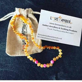 Girls Childs Nurture Raw Unpolished Honey Pink Dragon Agate Baltic Amber Necklace Jewellery / Necklaces / Beaded Necklaces Love Amber X