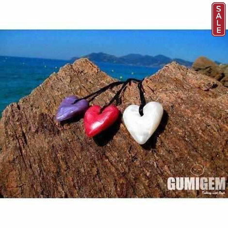 Gumigem Baby Teething Necklace Silicone Solid Heart Teething Necklaces Gumigem