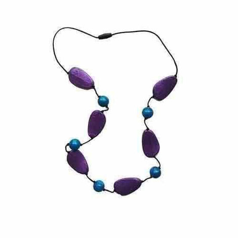 Gumigem Gumidrops Chewable Teether Necklace Teething Jewellery Purple Rain Blue Teething Necklaces Gumigem