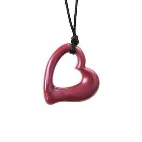 Gumigem Miller Heart Baby Teething Necklace Mum Wears Baby Chews Silicone Teething Necklaces Gumigem