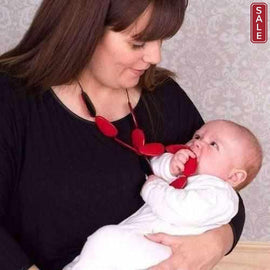 Gumigem Roulette Flip Baby Teething Necklace Red And Black. Gumigem