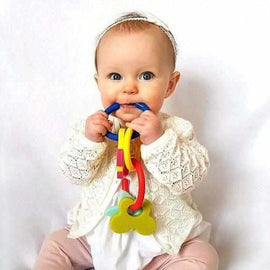 Gummee Link and Teethe set - Silicone teething links with shapes, teething solutions for your baby Gummee