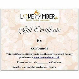 Love Amber x Gift Vouchers Birthday Christmas Baby Shower Christening  Valentines Gift Vouchers Love Amber X