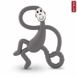 Matchstick Monkey Grey Neutral Dancing Monkey Teether Teething Toy Gel Applicator Silicone Teethers Matchstick Monkey