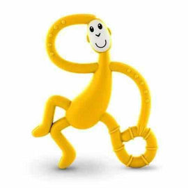 Matchstick Monkey Yellow Dancing Monkey Teether Teething Toy Gel Applicator Silicone Teethers Matchstick Monkey