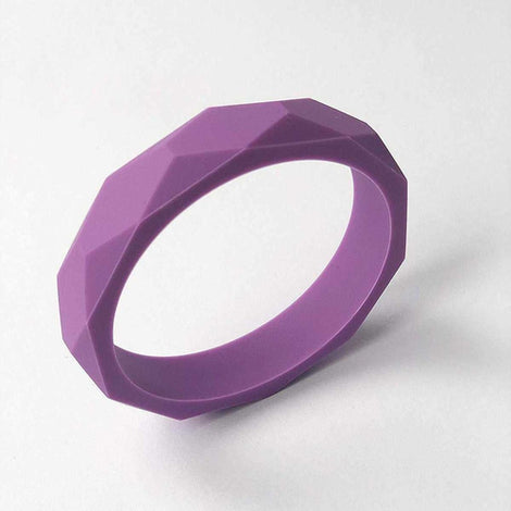 Purple Silicone Teething Bangle Teether for Mum to Wear Baby Infant to Chew Love Amber X Ltd Baltic Amber Jewellery and Silicone Teething Necklaces