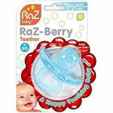 RazBerry Teether (Baby Blue) Love Amber X Ltd Baltic Amber Jewellery and Silicone Teething Necklaces