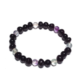 Adult Deus Baltic Amber Shungite Fluorite Beads Stretch Bracelet Love Amber X