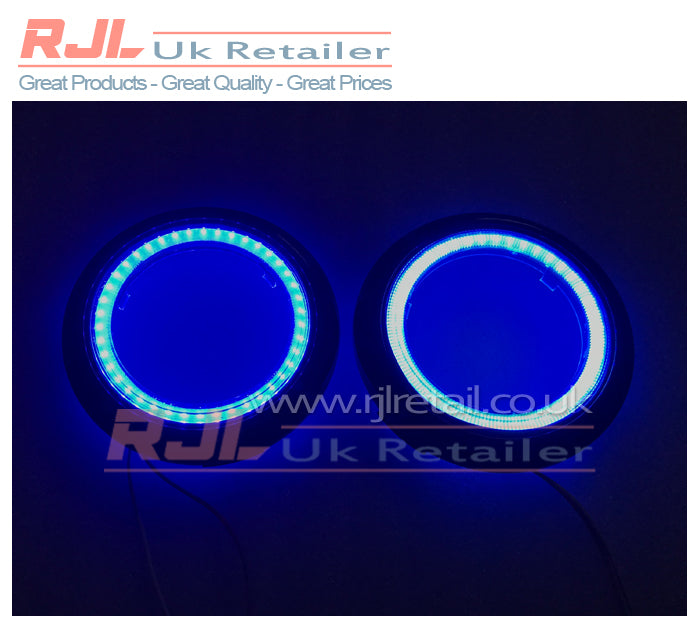 ICE BLUE LED Bezel Rings Fog Light Surround fits FordFocus St Facelift Mk2 08-11 - Rjl Retail Ltd