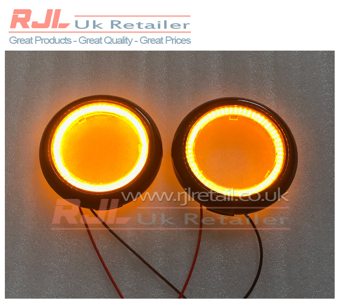 Ford Focus St Mk2.5 2008-2011DRL ROUND BRIGHT ORANGE Indicator Lights Fog Lights - Rjl Retail Ltd