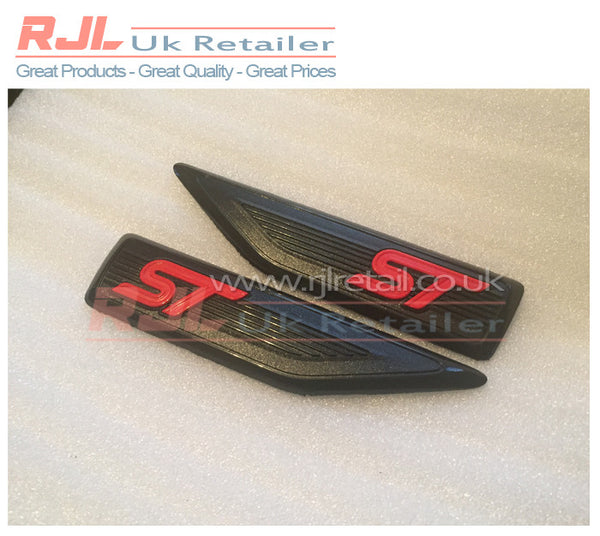 Focus 225 Mk2 Facelift 2005-2008 ST Black Side Wing Fender Adhesive Badge - Rjl Retail Ltd