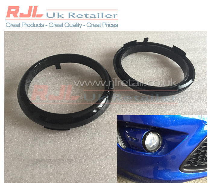 Factory Black Painted Bezels Rings for Front Lower Fog Light Surrounds fits Ford Focus St - Rjl Retail Ltd