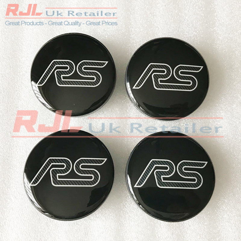 Ford Focus RS Mk2 2005-2008 Facelift Carbon Fibre Alloy Wheel Centre Hub Caps New Design - Rjl Retail Ltd