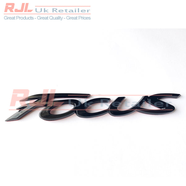 Black Gloss Focus Emblem Car Styling Sticker Body Rear Tailgate Badge For Ford Focus 2 ST RS