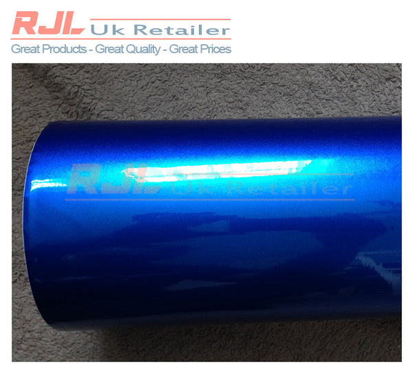 Chrome Metallic Ultra Glossy Glitter Blue Car Wrapping Vinyl Decal 1.52 x 1.00 Metre - Rjl Retail Ltd