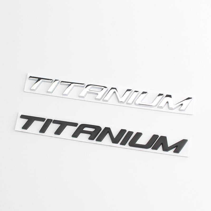 TITANIUM Emblem Car Styling Sticker Body Rear Tailgate Badge For Ford Focus Zetec