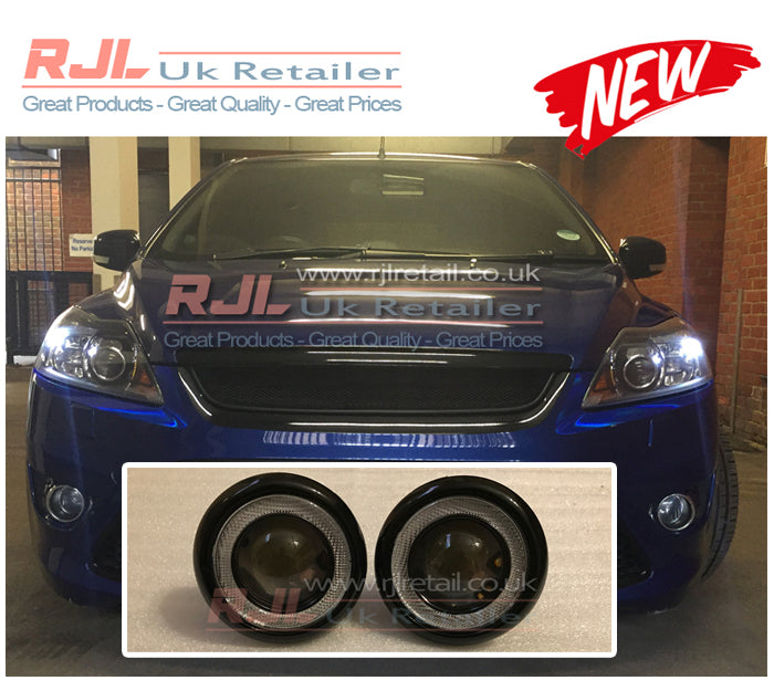 Ford Focus St Mk2 2008-2011DRL COB LED ROUND BRIGHT WHITE Fog Lights - Rjl Retail Ltd
