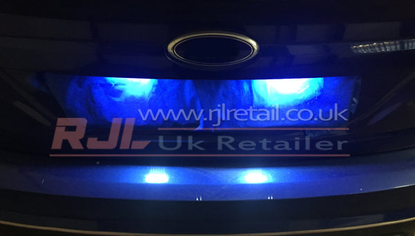 Ford Focus St Mk3 2012-2015 Pair of LED Licence Plate Super Bright Light Ready to Fit Focus - Rjl Retail Ltd