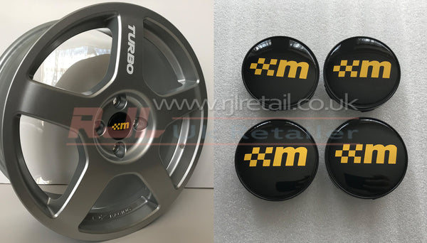 Ford Focus RS Mk 1 2002-2004 OZ Racing Alloy Wheel Centre Caps Old Style Rs Logo - Rjl Retail Ltd