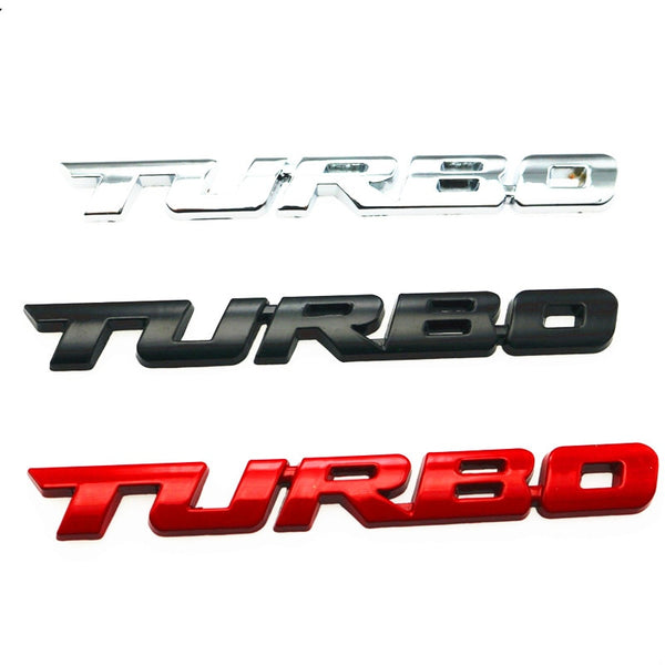 3D Metal TURBO Emblem Car Styling Sticker Body Rear Tailgate Badge For Ford Focus 2 3 ST RS Fiesta Mondeo Tuga Ecosport Fusion - Rjl Retail Ltd