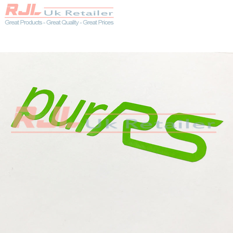 Lime Green Rs PurRS Vinyl Decal Rs Hatchback Badge For Mk1/2/3 2001-2016 - Rjl Retail Ltd