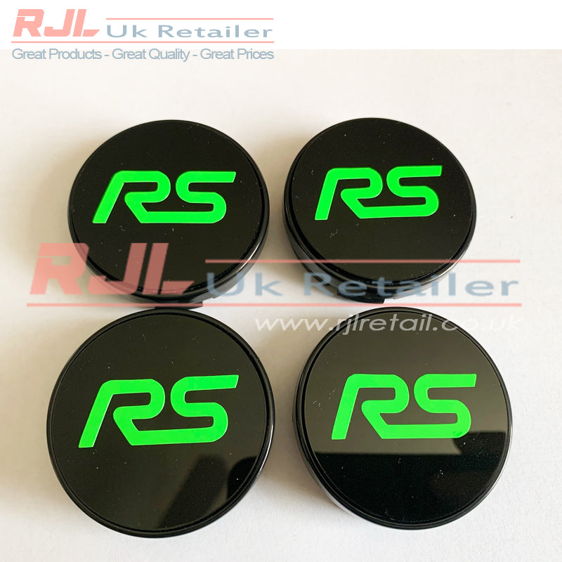 54.5mm BLOCK ST VINYL LOGO DECAL Gloss Bright Green Ford Focus St Alloy Wheel Centre Hub Caps