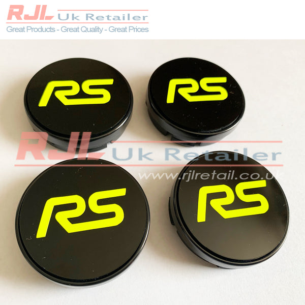 54.5mm BLOCK ST VINYL LOGO DECAL Gloss Bright Yellow Ford Focus St Alloy Wheel Centre Hub Caps