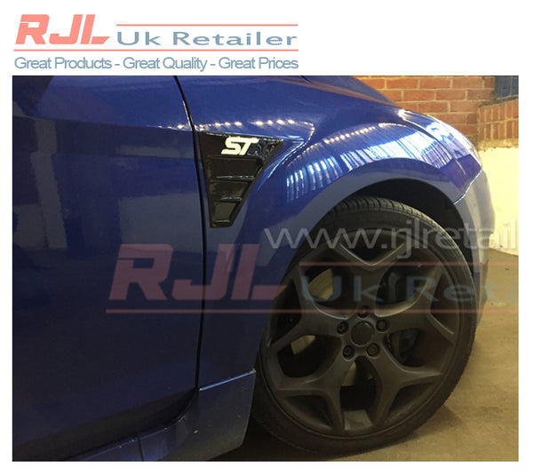 Custom Rs Vent Badges with St Vinyl Logo Ford Focus 225 Mk2 ST Black Wing Fender Badge - Rjl Retail Ltd
