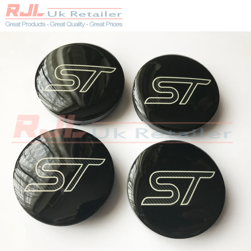 Ford Focus St Mk2.5/Mk3 2009-2019 Facelift Carbon Fibre Alloy Wheel Centre Hub Caps New Design