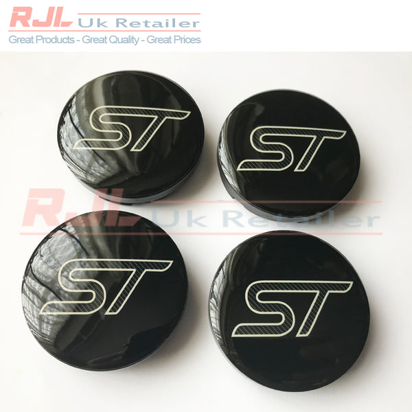 Ford Focus St Mk2.5 2009-2011 Facelift Carbon Fibre Alloy Wheel Centre Hub Caps New Design