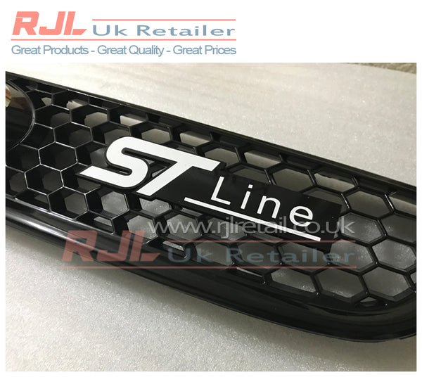 Custom Ford Focus ST Mk2/2.5/3 Front Radiator Grille Badge Hatchback St line - Rjl Retail Ltd