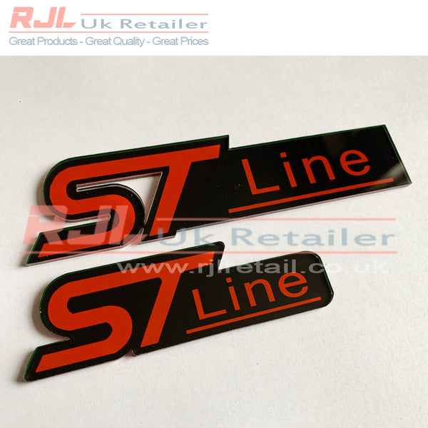 Custom Set of Ford Focus ST Line Mk2/2.5/3 Front Radiator Grille & Boot Badge Hatchback St line