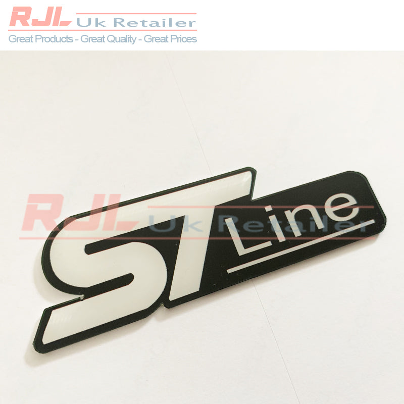 Custom Plaque Black Ford Focus ST Line Mk2/2.5/3 Rear Boot/fender Badge St line