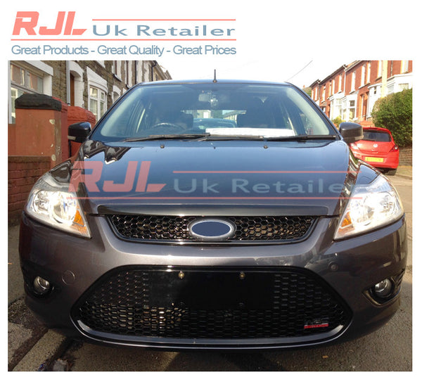 Factory Black Painted Front Upper & Lower Grilles for Focus Zetec Mk2.5 2008-2011 - Rjl Retail Ltd