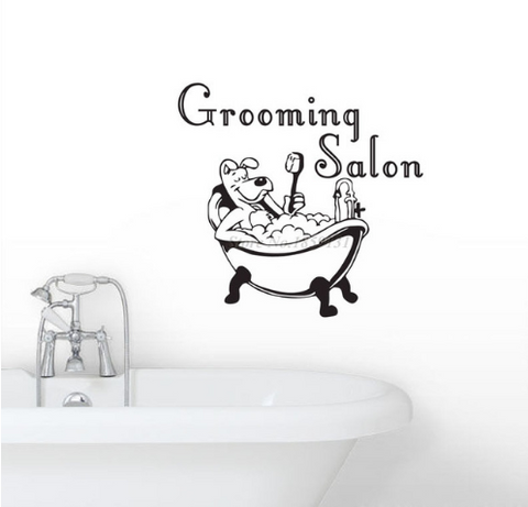 Grooming Salon Dog Sticker
