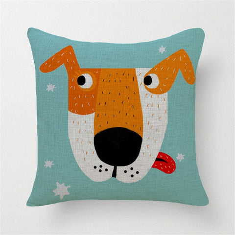 Dog Printed Throw Pillow