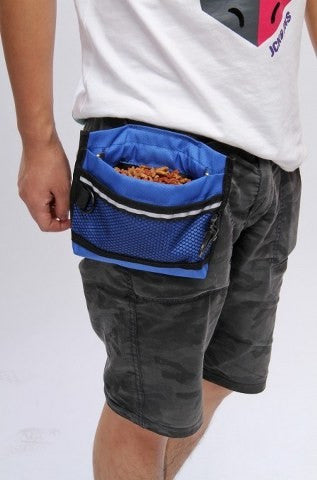 blue dog food bag for waist