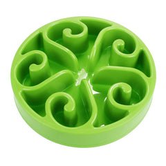 green slow eating bowl