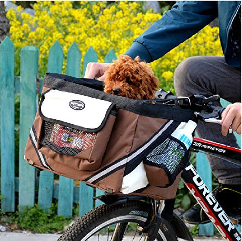 Bike Front Bag Carrier Dog Basket - BestDogShop.com
