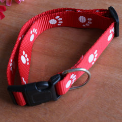 Footprints Dog  Collar Puppy With Bells - Free + Shipping