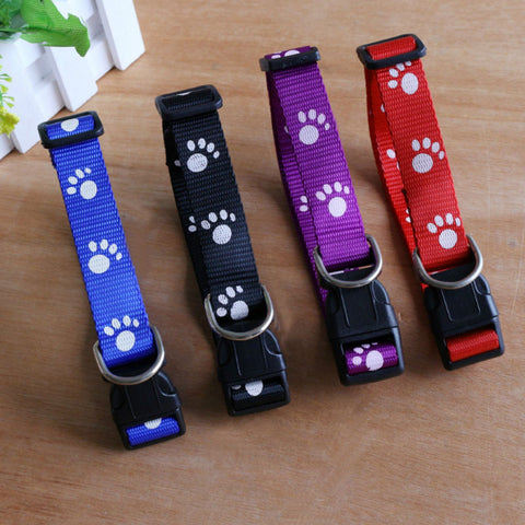 Footprints Dog Collar With Bells