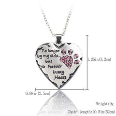 Paw Print and Heart Designed Necklace
