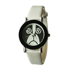 Dog Face Watch for Women-White Band