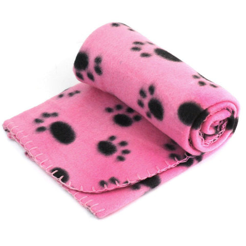 Paw Print Soft Dog Blanket