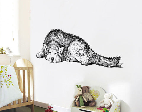 Husky Dog Wall Decal Sticker